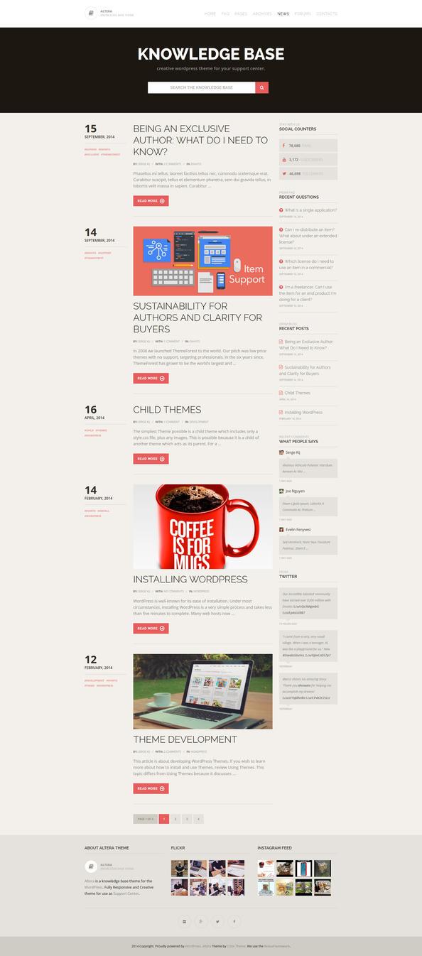 Altera - Knowledge Base Wordpress Theme - Blog by ZERGEV