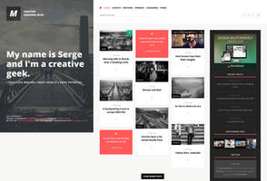 MaxiOne - Creative Personal Blog WordPress Theme