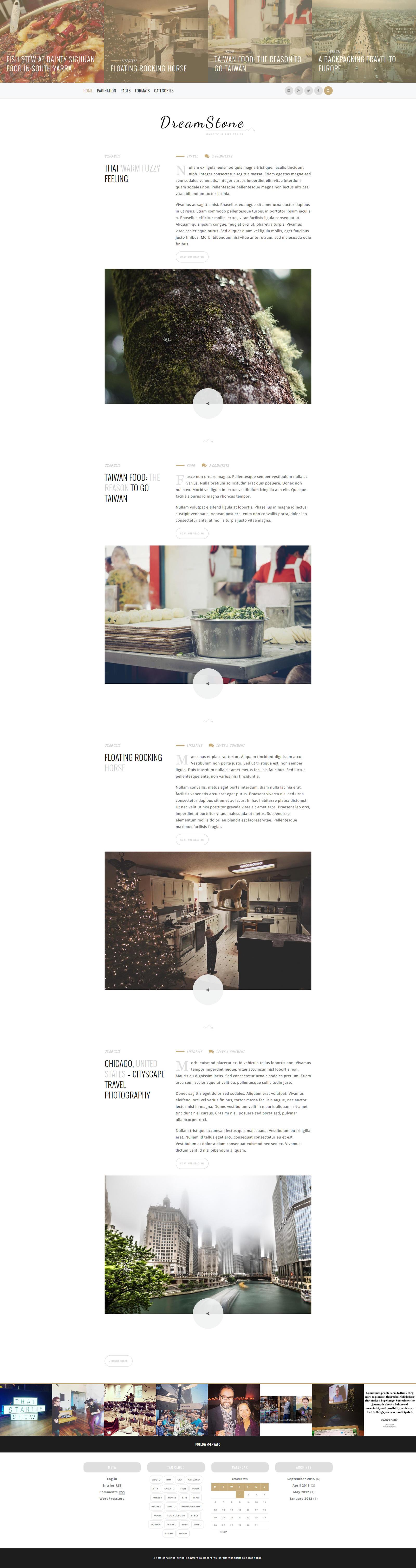 DreamStone - Personal WordPress Blog Theme by ZERGEV