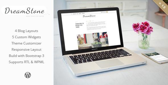 DreamStone - Personal WordPress Blog Theme - Title by ZERGEV