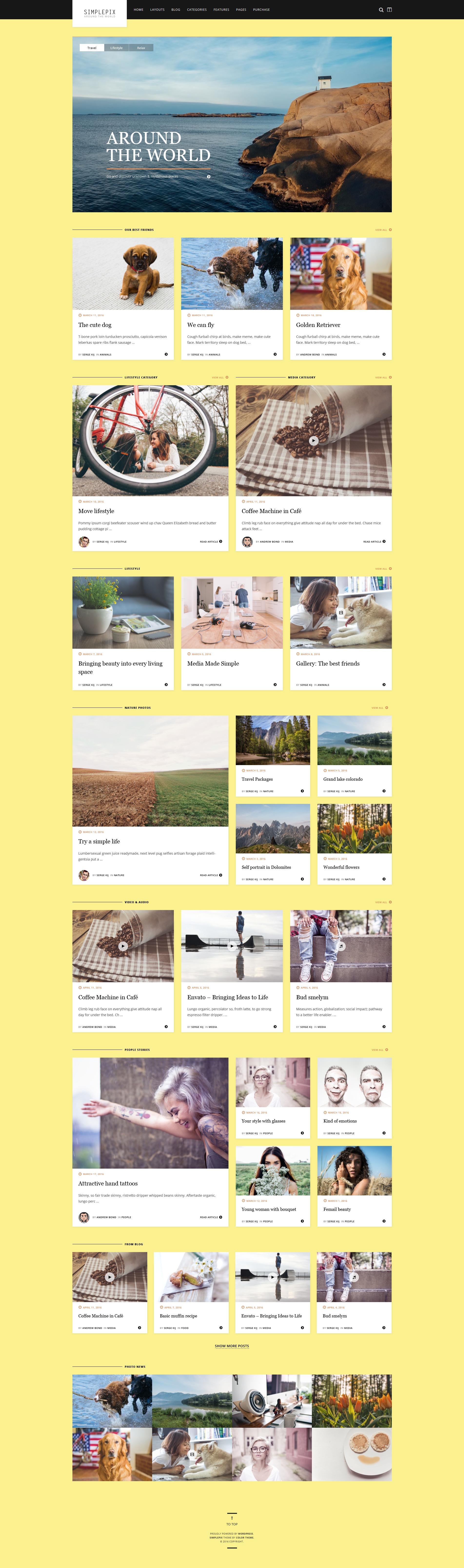 SimplePix - WordPress Blog Magazine Theme - Home by ZERGEV