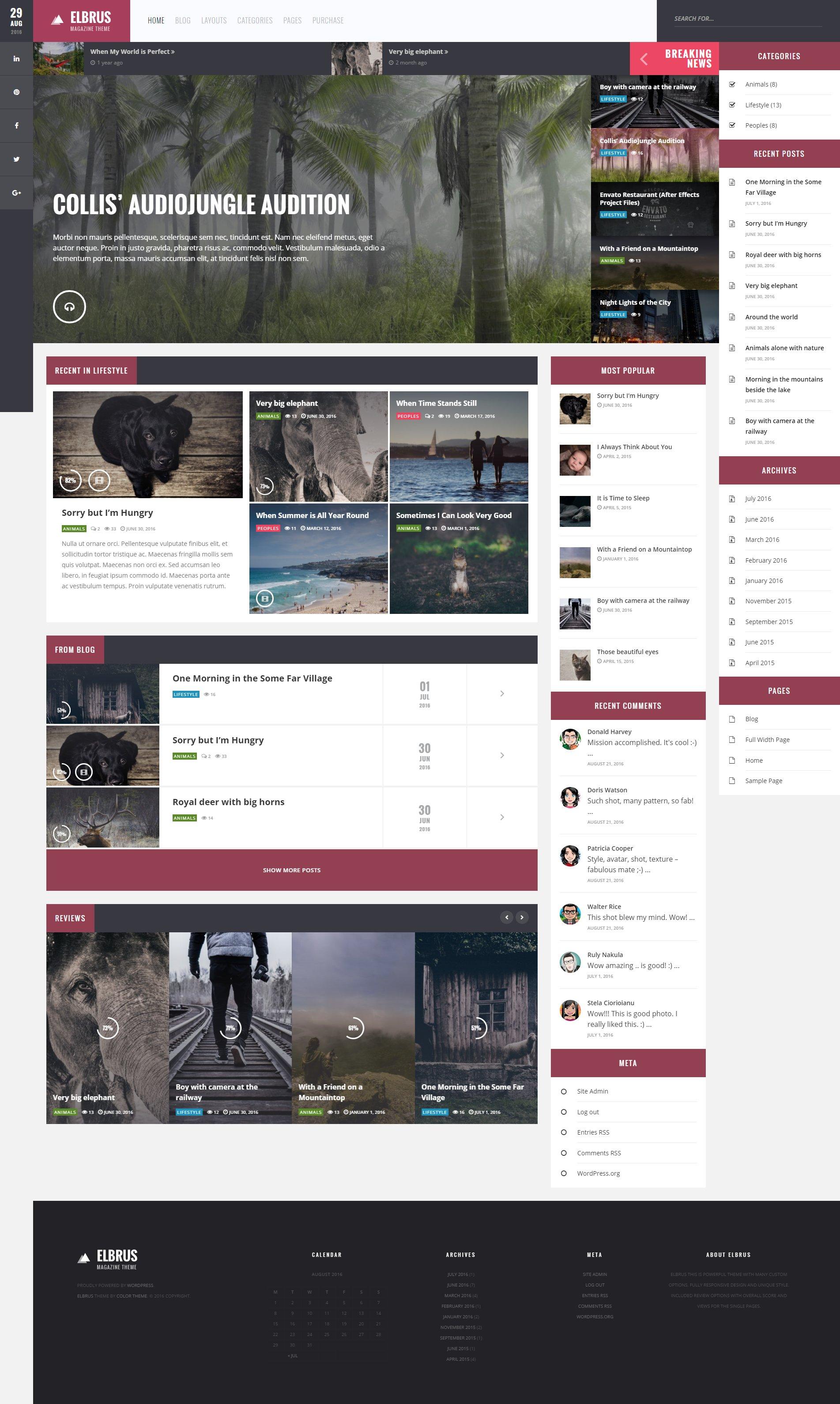 Elbrus  WordPress Blog Magazine Theme by ZERGEV