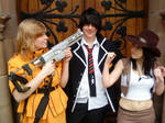 Seras Victoria Cosplay With Rin And Tifa