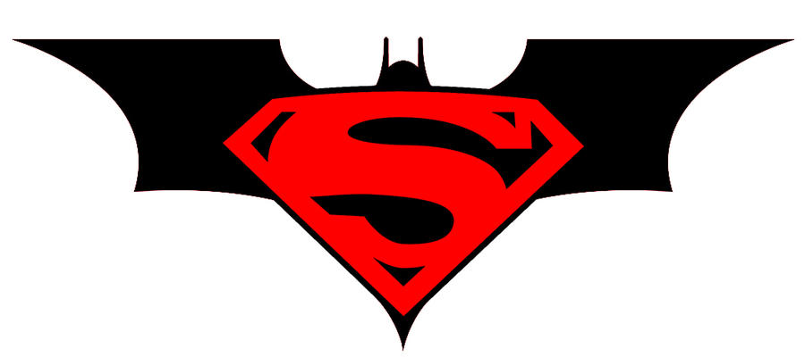 Superman And Batman Logo Drawing