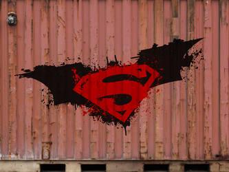 Batman Superman Graphitti by KyleXY93