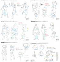 GALACTIC FIGHTING TOURNAMENT - MODEL SHEETS