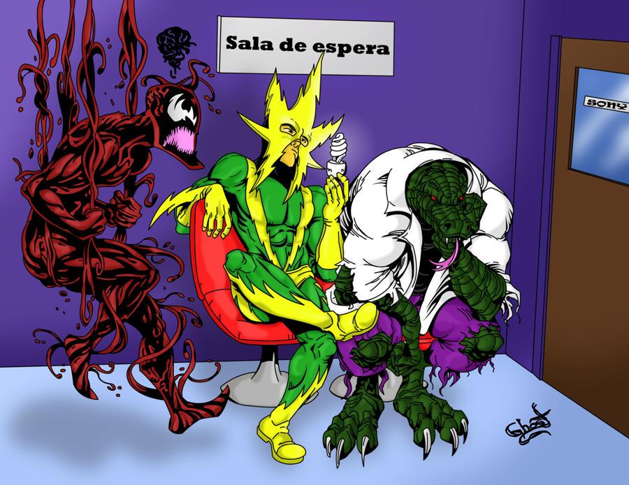 Carnage Electro and Lizard by GhostDarkSide on DeviantArt