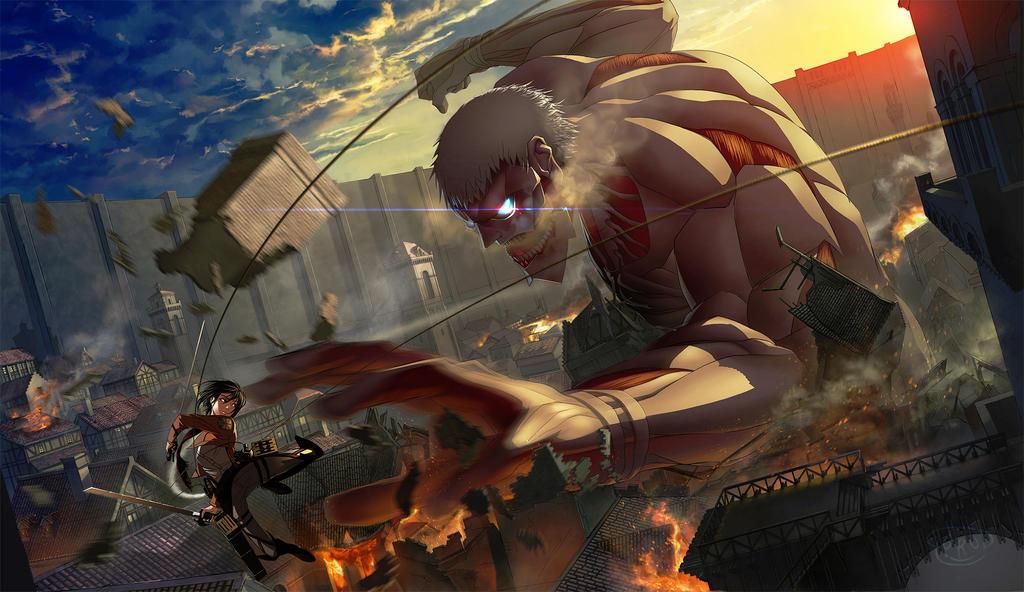 Attack on Titan!! by goruditai