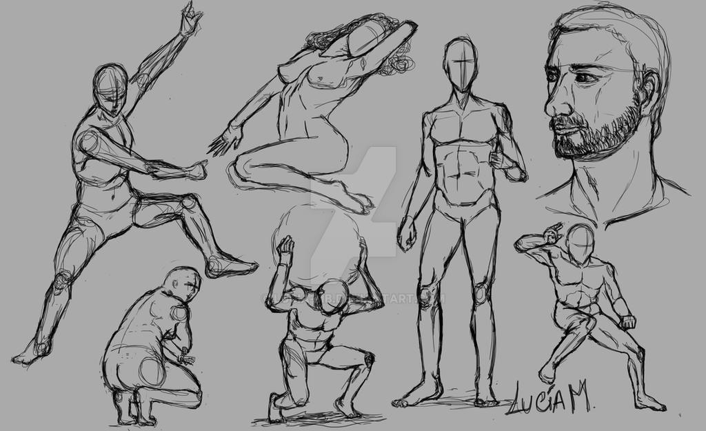 Estudio - Anatomia humana con Speedpainting by Lucia-MB on DeviantArt