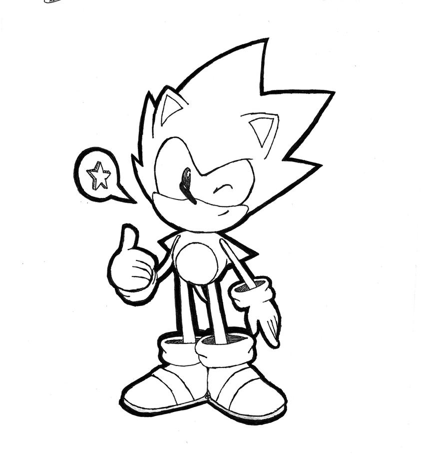 [SKETCH] CD Sonic by Chaocaster on DeviantArt