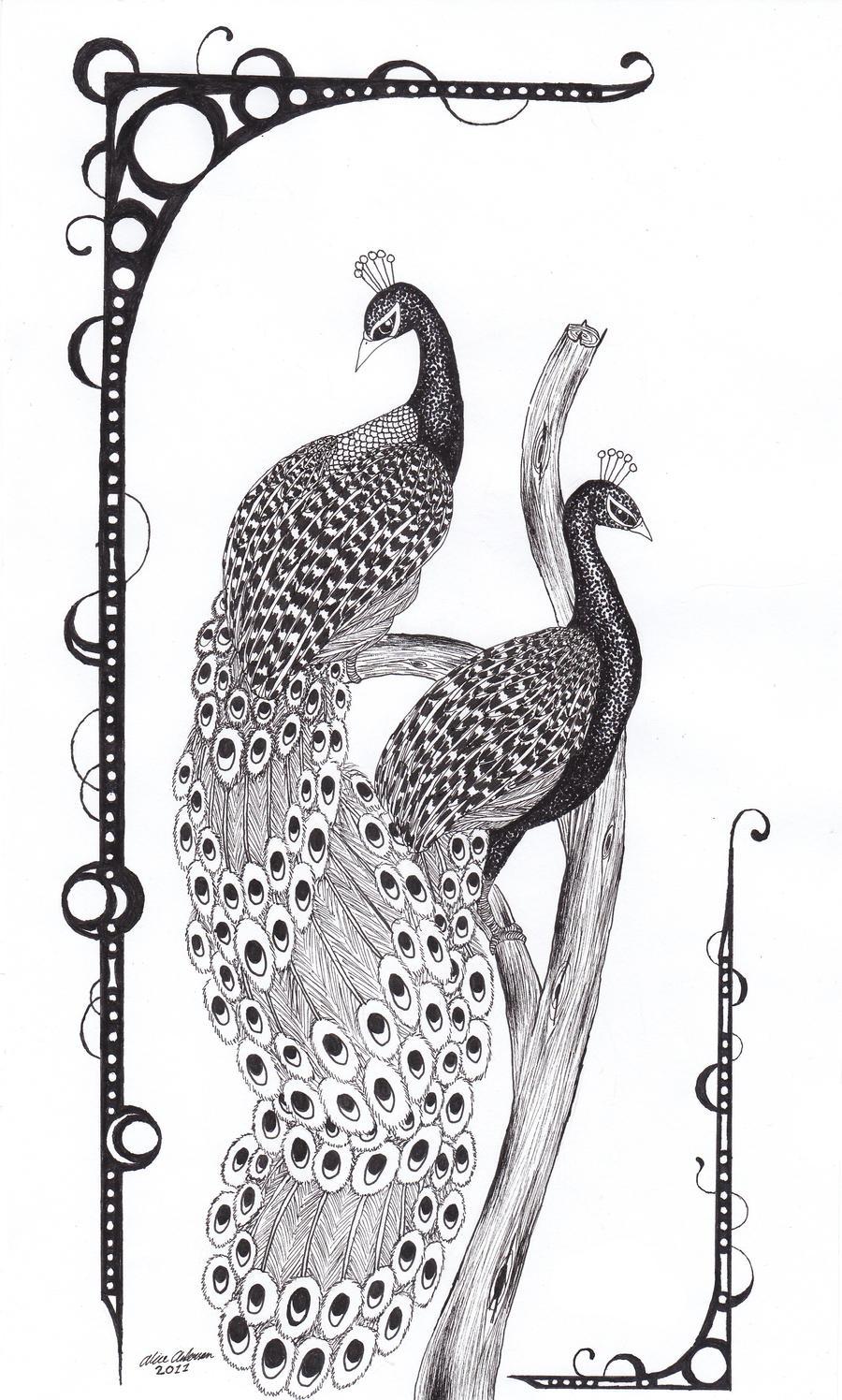 Peacock tree by Uskall
