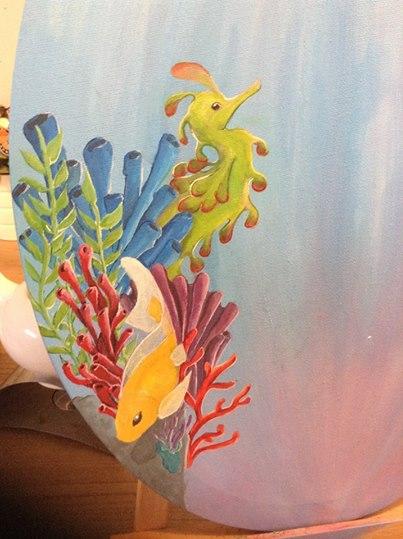 Coral reef in acrylics (wip) by keniakittykat