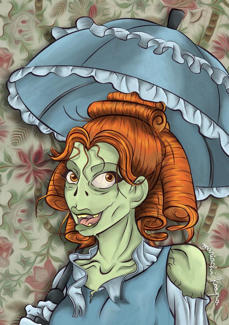 Umbrella Zombie by keniakittykat