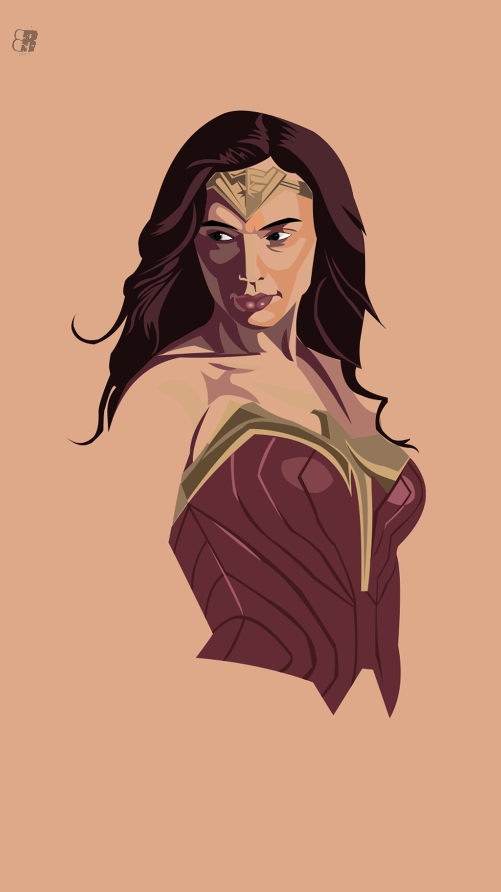 Wonder Woman Mobile Wallpaper Vector Style By Rohitbasu On Deviantart
