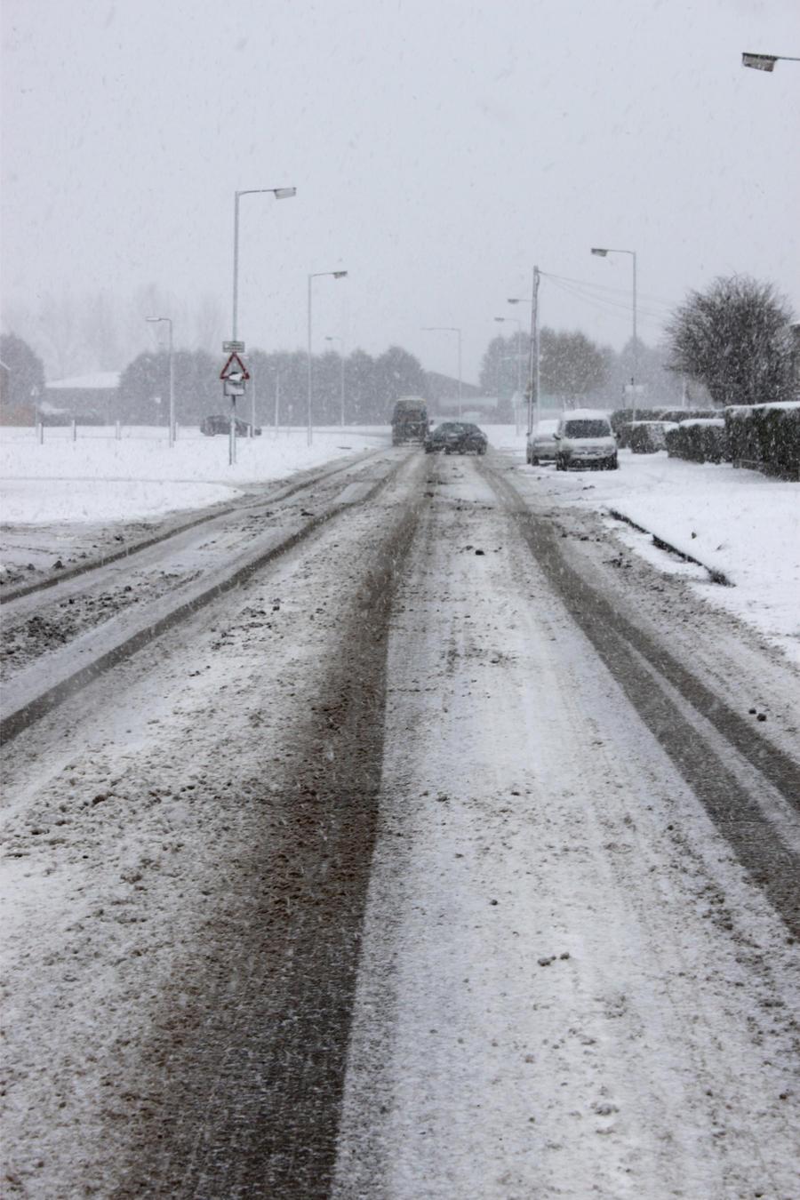 Snowy street 2 by Living-Life-Loud