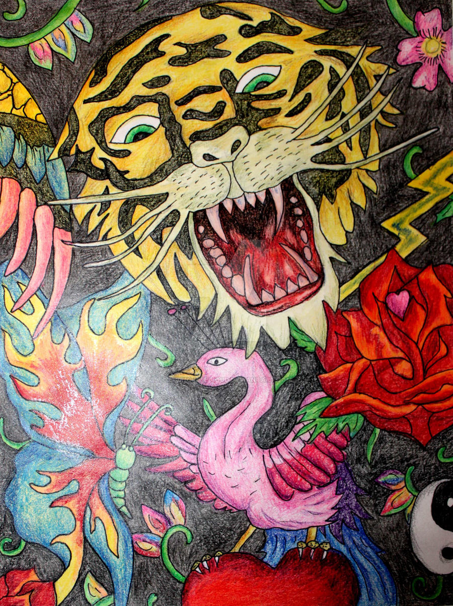 Ed Hardy collage 2 by Living-Life-Loud