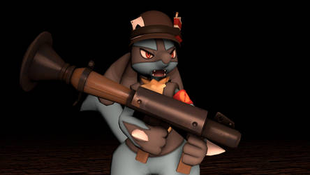 [SFM] - Lucario as Soldier by ScoutEevee