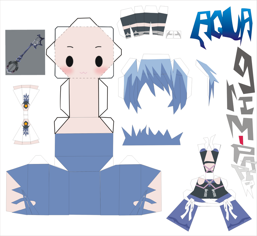 aqua kingdom hearts pattern by Grim-paper