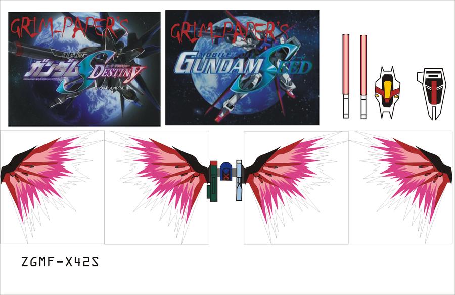 destiny and freedom gundam 2 by Grim-paper