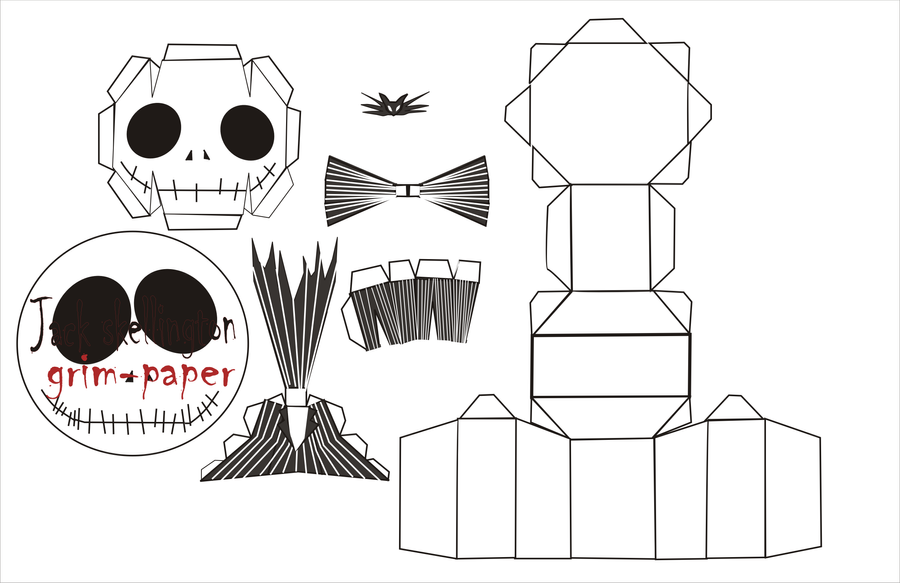 jack skellington chibi pattern by Grim-paper on DeviantArt