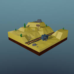 Desert Low poly, iso
