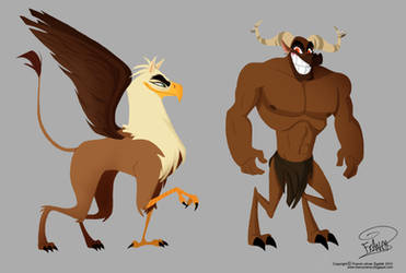 Mythological designs by chillyfranco