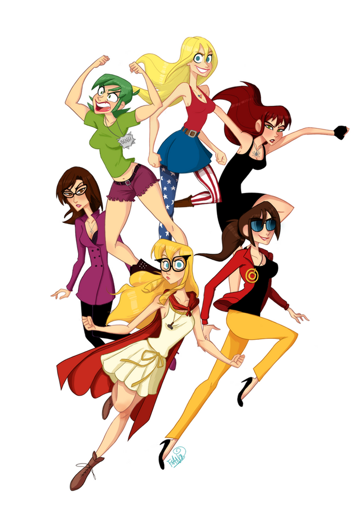 Avenger Girls by chillyfranco