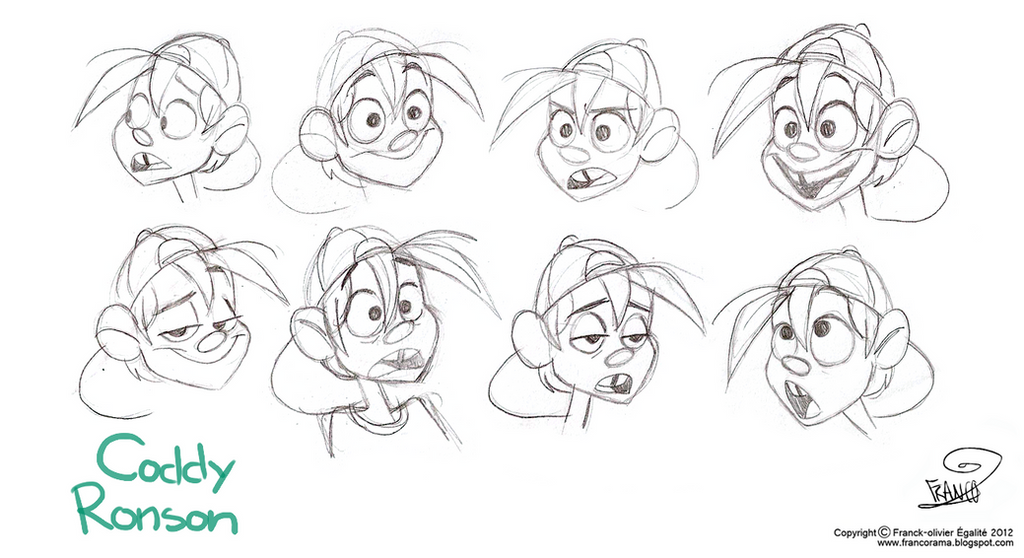 Coddy Ronson's expressions by chillyfranco