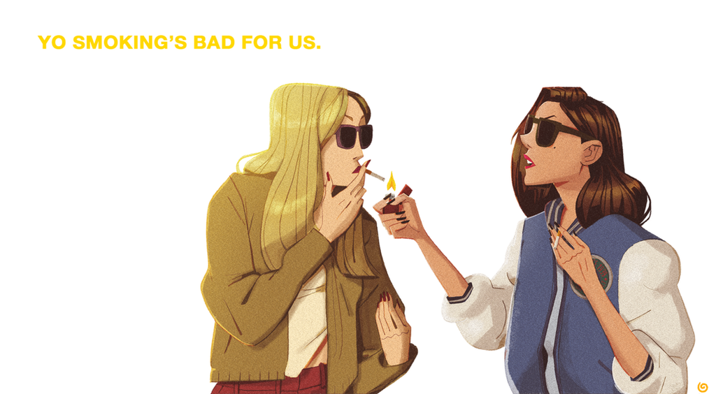 Smoking Is Bad Kids by chillyfranco