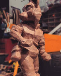 Riley 2D Animation Sculpture Maquette - In Prog by moremagic