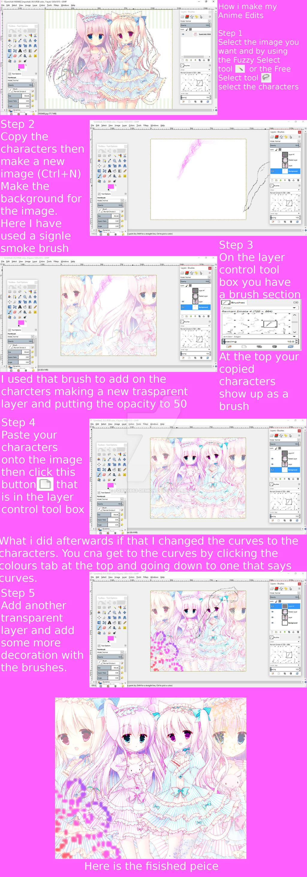 how i do anime edits tutorial by foxy6663 demon on deviantart