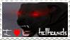 hellhound stamp by Littletaino