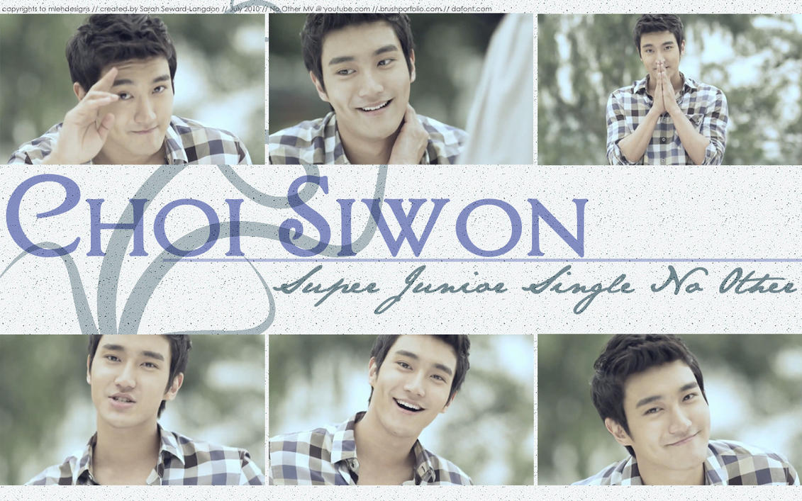 Choi Siwon  Super Junior by mlehdesigns on DeviantArt
