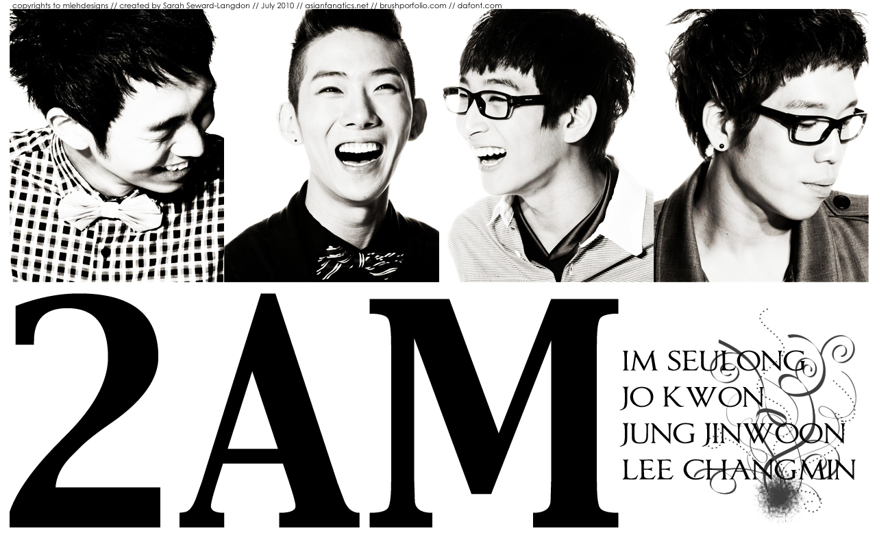 2AM : Black and White by mlehdesigns on DeviantArt