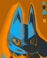 Lucario Colour Palette Challenge by NebulaDreams