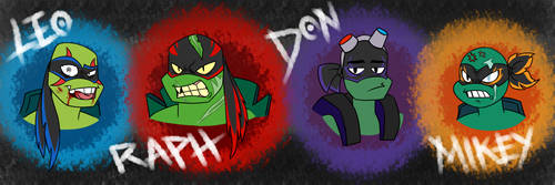 -RotTMNT AU: Foot Turtles- by WOLFY-THE-BLACKWOLF