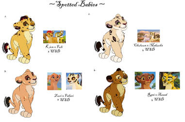 Open Spotted Babies Adoptables