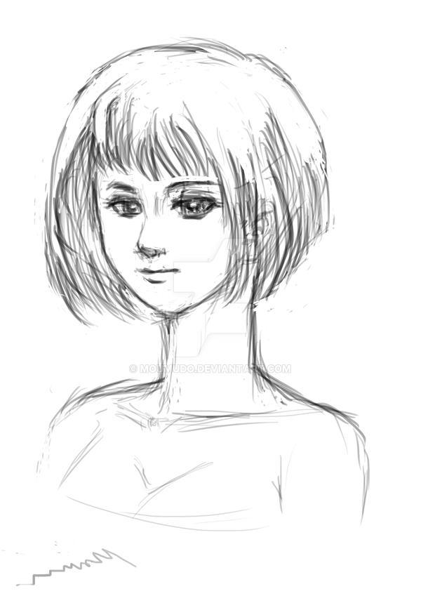 Portrait practice in progress by MOUMUDO
