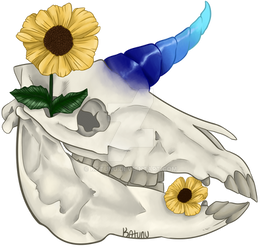 Floral Unicorn Skull