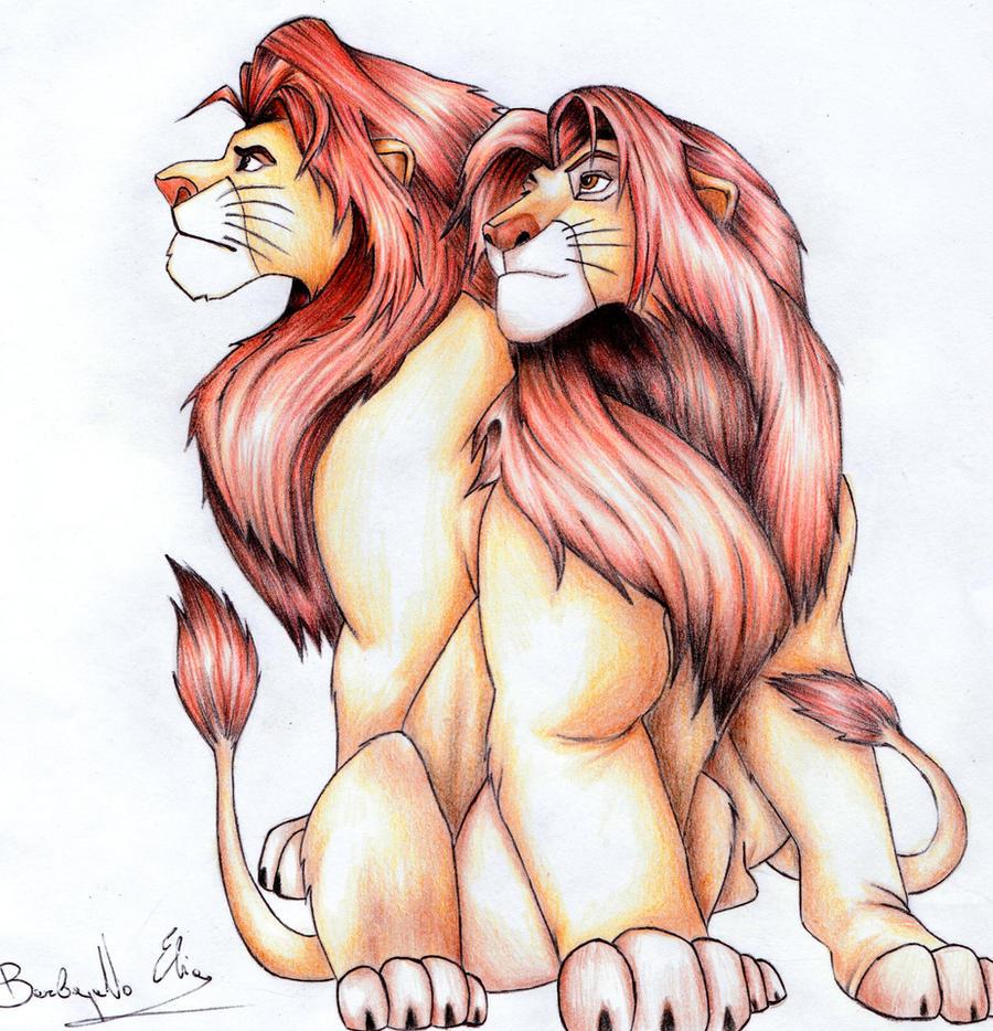 Simba e Mufasa by Elia88