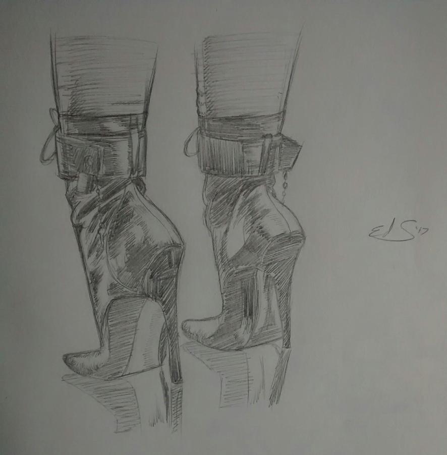 Heels sketch by EdStorm