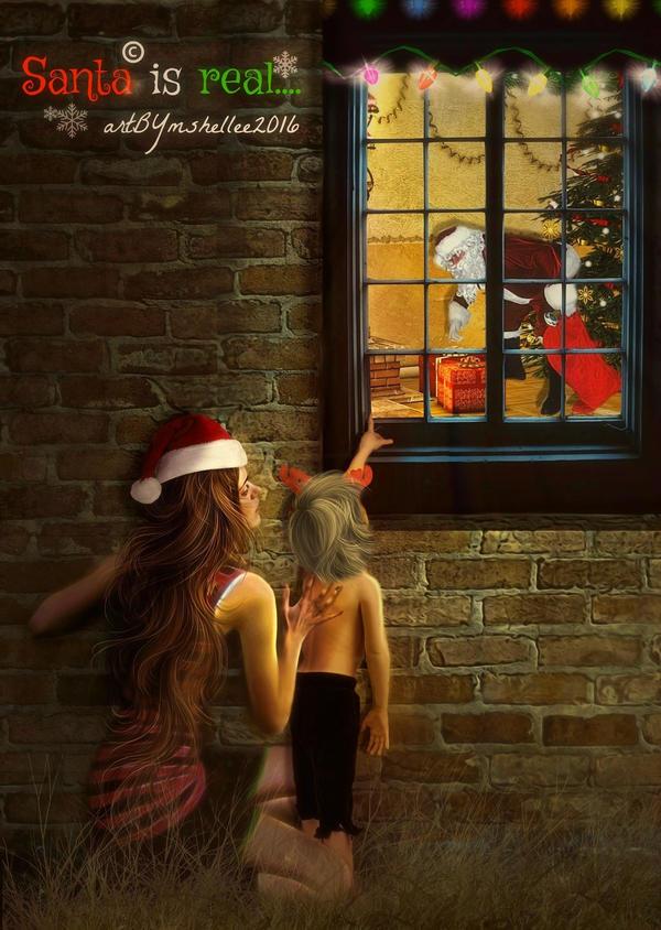 Santa is real... by mshellee