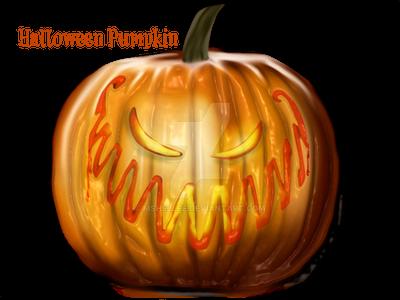 Evil Halloween Pumpkin Stock by mshellee