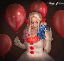 Harley as PennyWise by mshellee