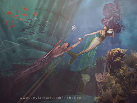 Atlantis Lovers by mshellee