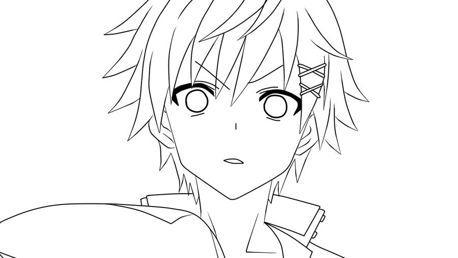Lineart Anime Boy : Watanuki banri lineart by nightraytsukishiro on deviantart