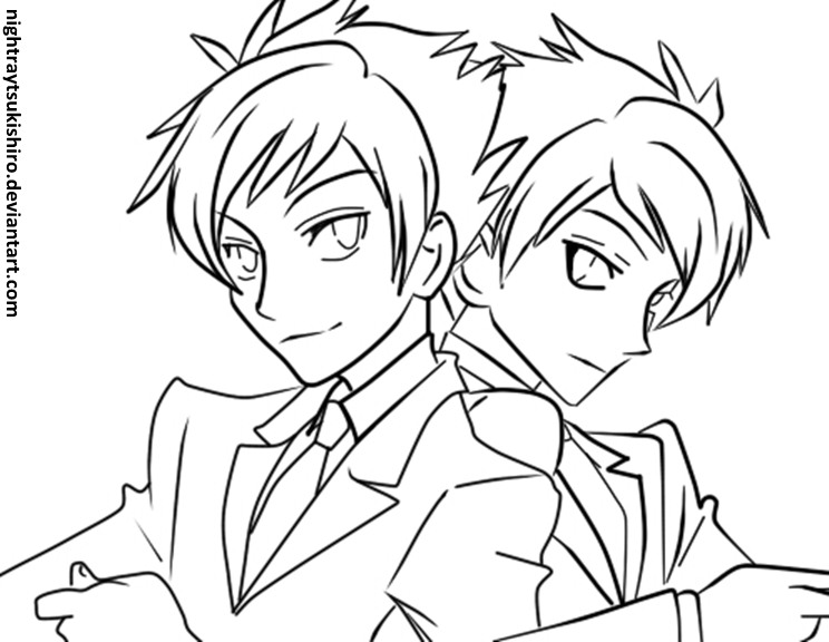 ouran highschool coloring pages - photo#37