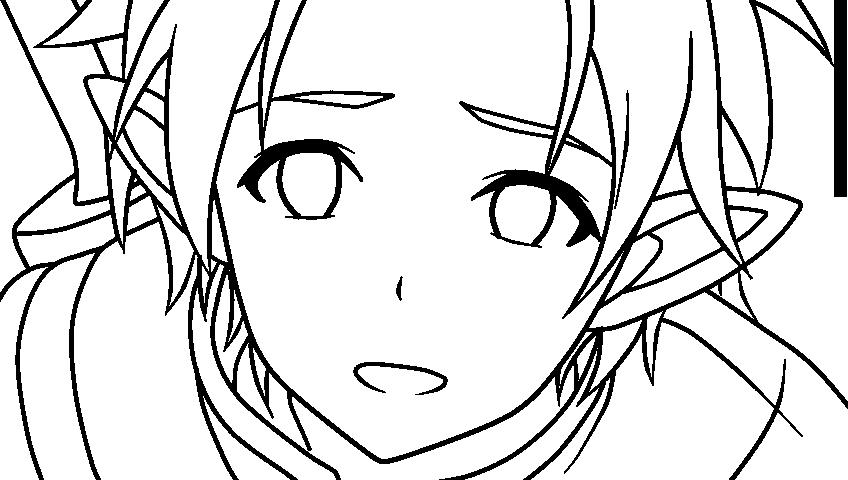Kirito Lineart : Kirito alo lineart by nightraytsukishiro on deviantart