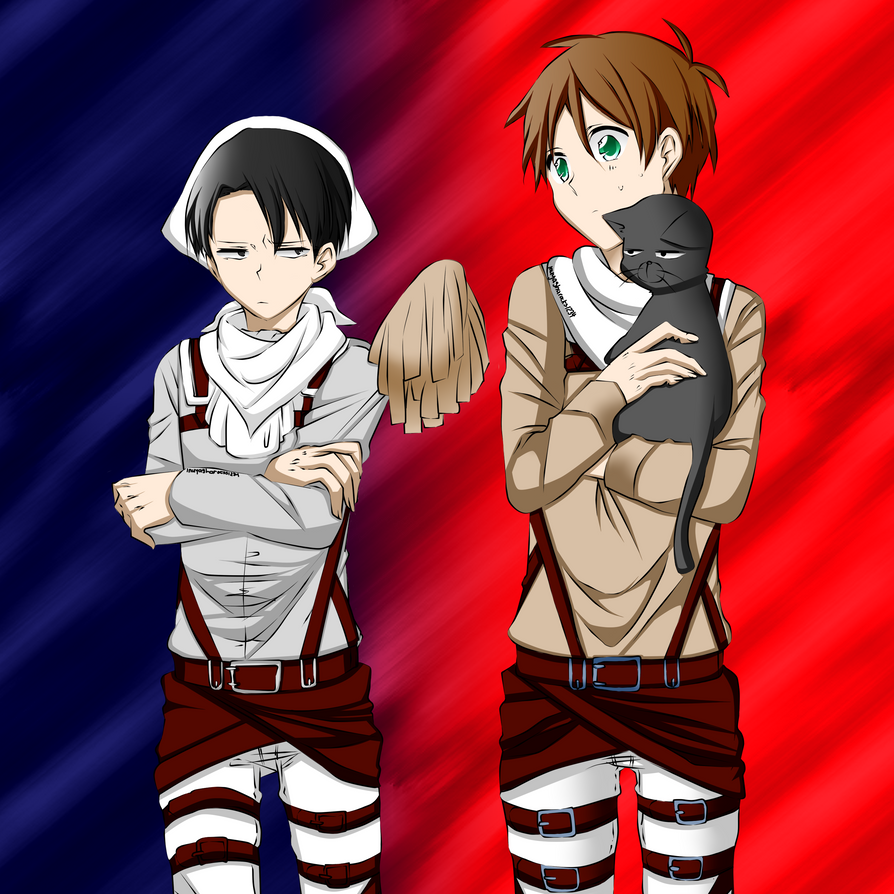 Colored - Rivaille and Eren Jaeger - by NightrayTsukishiro ...