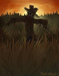 Drawlloween 2019- 11, Scarecrow